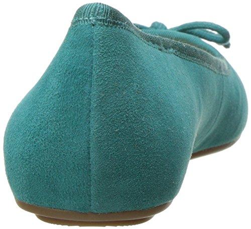 Neuf Ouest Balles En Daim Batoka Plat Plat Turquoise Foncé