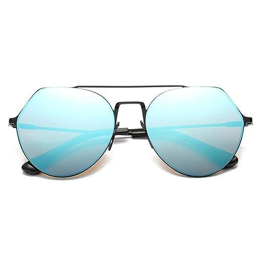 c8d0e9d642 GAMT Aviator Sunglasses For Women Men Uv400 Retro Metal Frame Eyeglasses  Black Fram Blue Lens