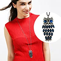 Neoglory Made with Swarovski Element Crystal Vintage Owl Animal Pendant Necklace Charm Jewelry