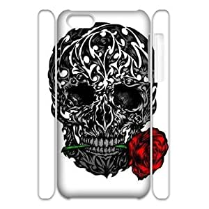 ANCASE Skull Art 5 Phone 3D Case For Iphone 5C [Pattern-3]
