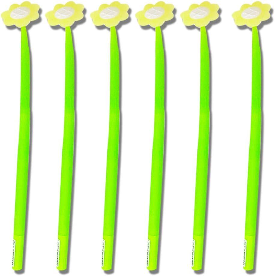 PINKE Kawaii Stifte 6 St/ück Sonne Blume Niedlich Stifte F/ür Office School Supplies Studenten Kinder Geschenk Stressabbau A