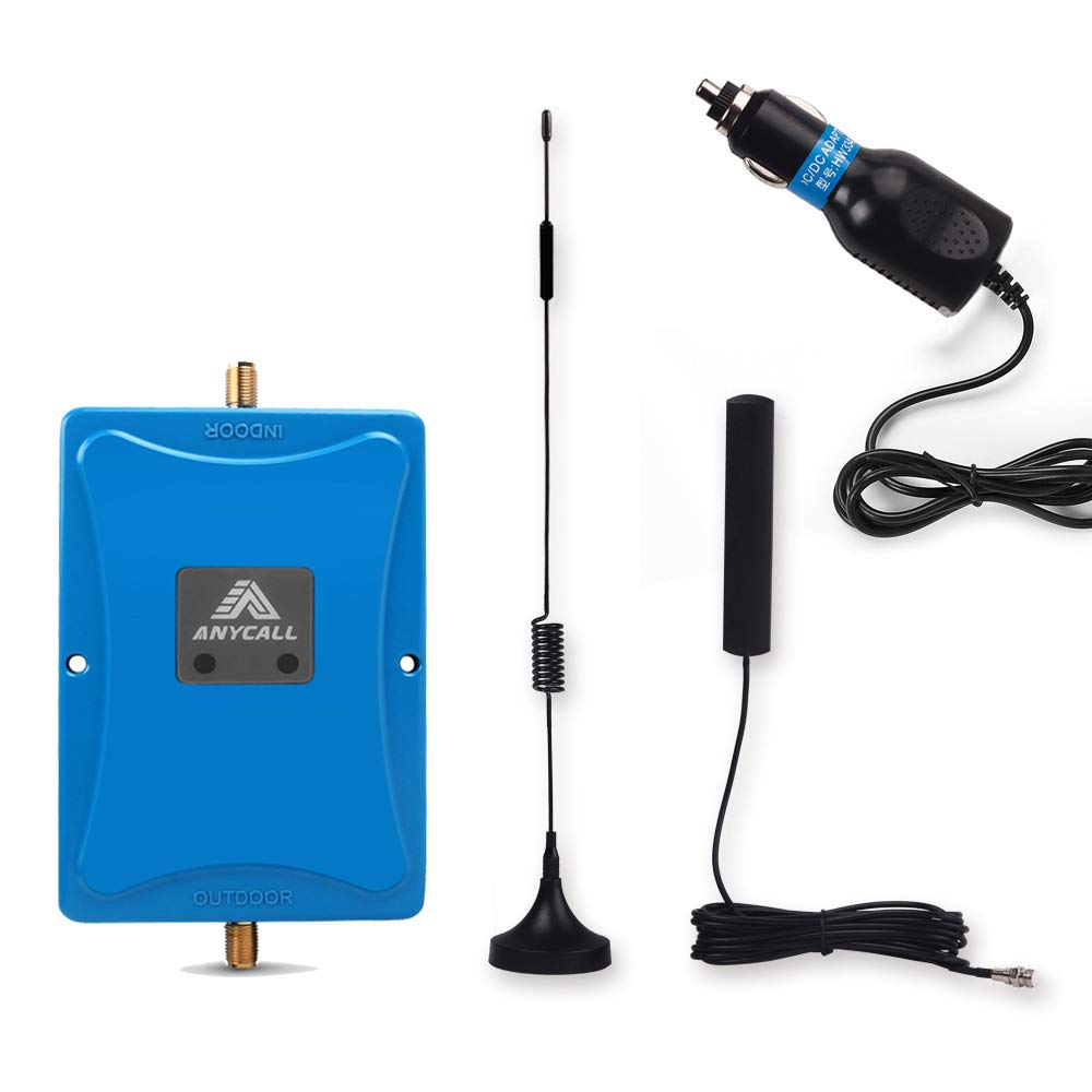 Cell Phone Signal Booster for Car, Boats, Truck Vehicle Use, Dual Band Verizon AT&T 700MHz 4G LTE Voice and Data Amplifier with Antennas.(Band 12/13/17) by ANYCALL A