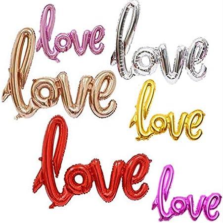 Anniversario Di Matrimonio Lettera.Romote 10pcs Della Lettera Di Amore Foil Palloncino Anniversario