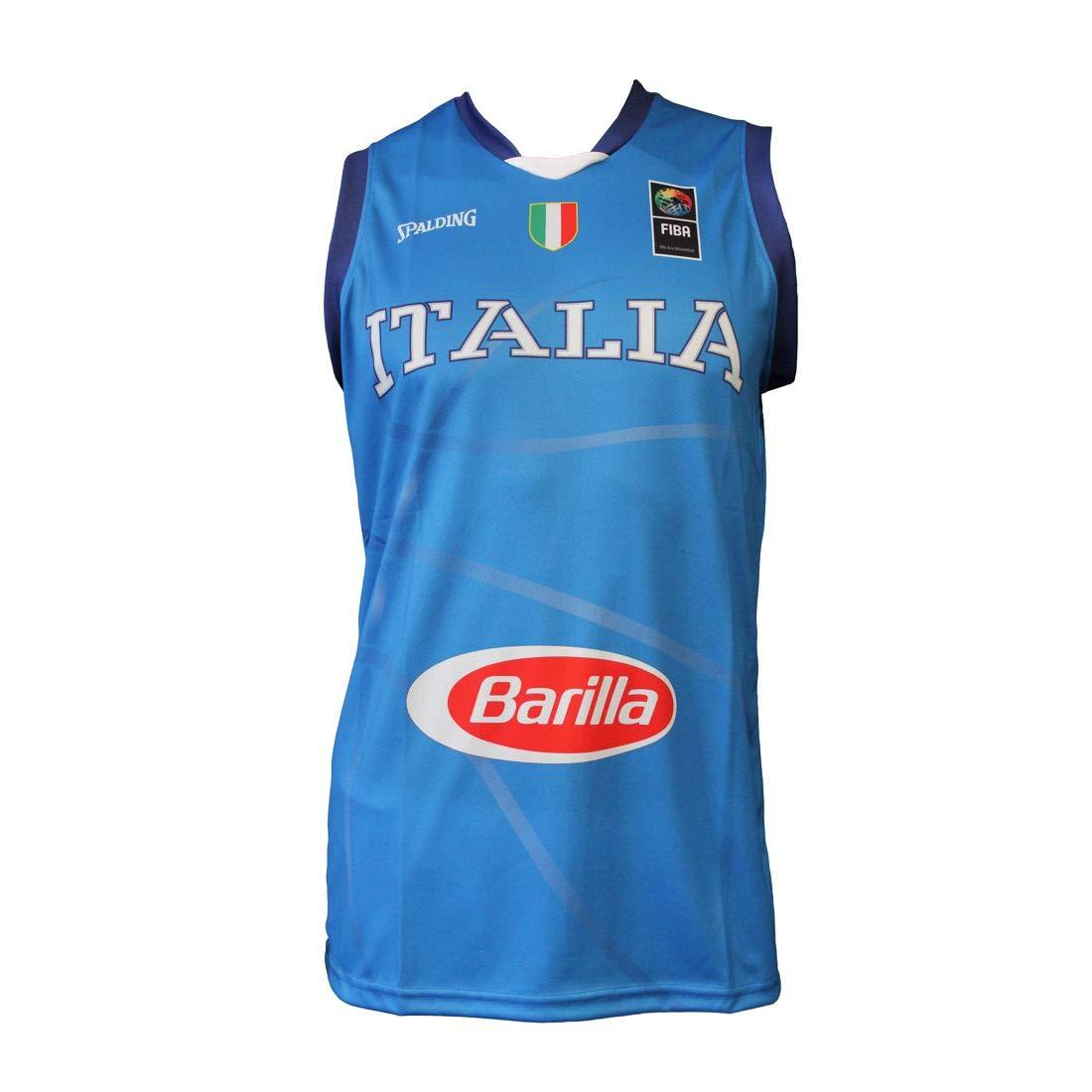 di leo pietro spa Canotta Replica Nazionale Italia Basket Uomo Spalding