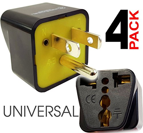 Price comparison product image KRIËGER Grounded Universal American US Canada / Japan (type B) Plug Adapter - 4 Pack