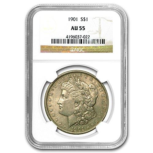 1901 Morgan Dollar AU-55 NGC $1 AU-55 NGC
