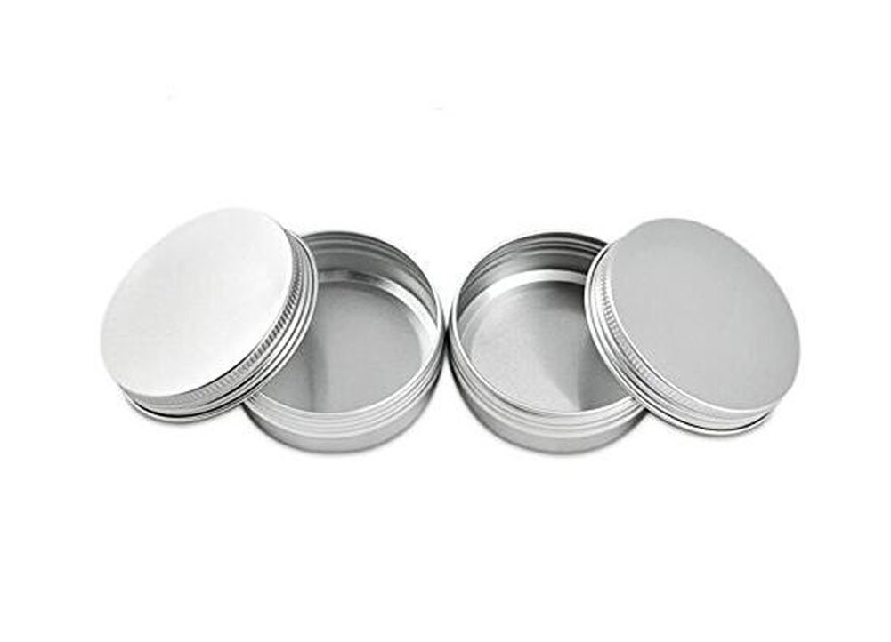 12PCS 60ml 2oz Empty Refillable Cosmetic Sample Aluminum Tins Jars with Tight Sealed Twist Screwtop Lip Balm Make Up Eye Shadow Cream Nail Art Powder Containers Pot ASTRQLE