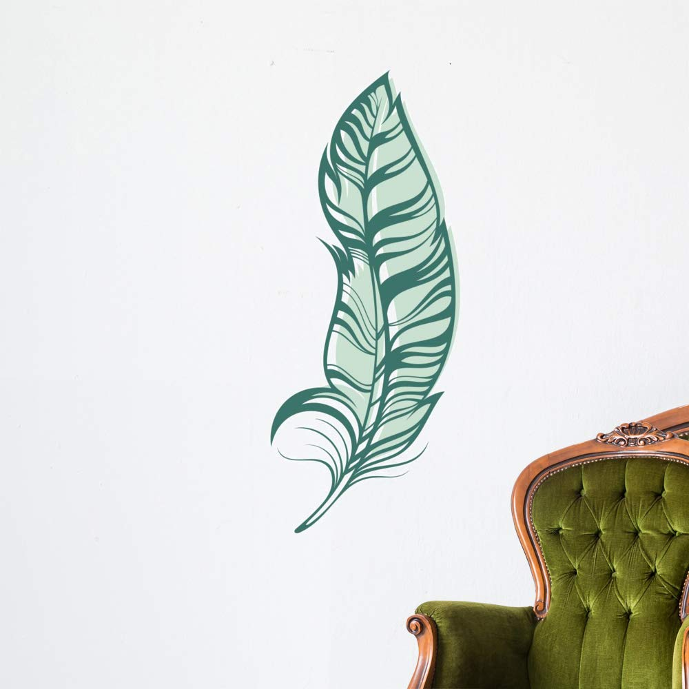 Wallmonkeys Feather Wall Decal Peel and Stick Animal Graphics (48 in H x 33 in W) WM497289