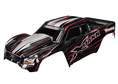 - Traxxas 7711R Red X-Maxx Body (Painted with Decals Applied), Includes Tailgate Protector Vehicle