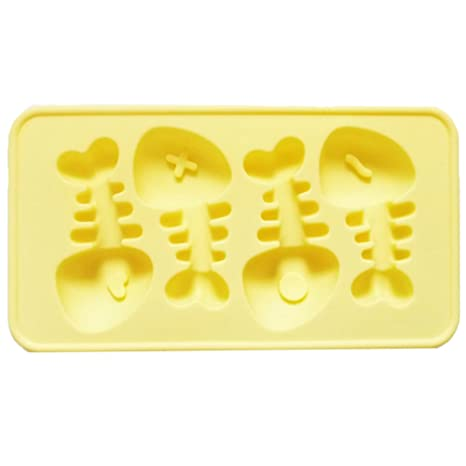 Fablcrew Animal modelado molde para hornear Fish Bone Chocolate, Gelatina Y Hielo Fondant molde para