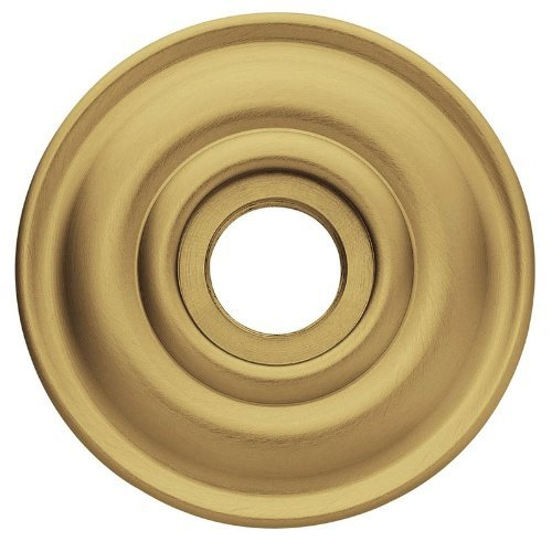 (Baldwin 5048 Pair of Estate Rosettes for Passage Functions, Satin Brass and)