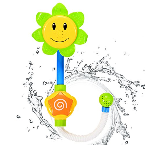 Sakiyr Sunflower Baby Bath Toys Spray Bathing Tub Fountain Toys for Kid Hand Shower Bath Toy