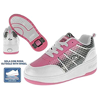 Beppi 2150431 - Zapatillas con Ruedas para niña, Color Blanco/Rosa, Talla 33: Amazon.es: Zapatos y complementos