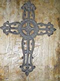 Cast Iron Victorian Style Religious Cross Rustic Ranch Western Decor