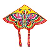 SuBoZhuLiuJ Butterfly Kite, Outdoor Colorful Butterfly Flying Kite with Winder String Children Kids Toy - Random Color