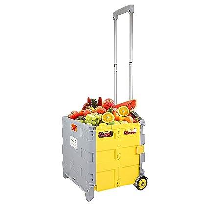 Carritos de la compra Carro De La Compra Portátil Carrito Plegable Supermercado Carrito De Equipaje Plegable