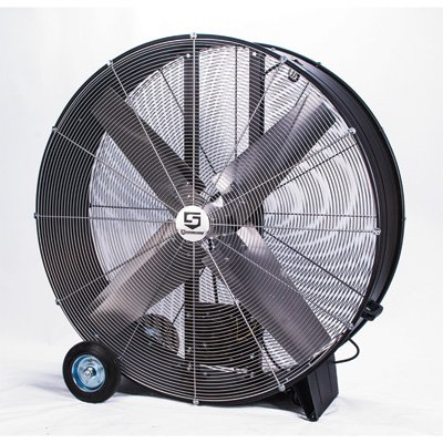 Strongway Open Motor Belt-Drive Drum Fan - 42in., 2/3 HP, 17,600 CFM