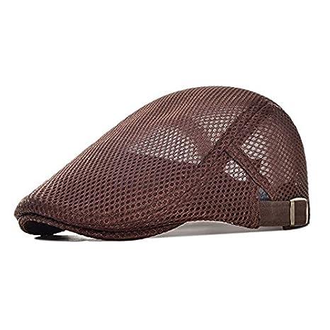King Star Men Breathable Mesh Summer Hat Newsboy Beret Ivy Cap Cabbie Flat Cap H17072102-5