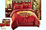 African Safari Giraffe 8pc Queen Size Comforter, Pillow Shams, Sheet Set & Bedskirt …