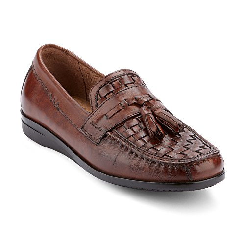 Dockers Men's Hillsboro Slip-on Loafer, Antique Brown, 10 M US (Woven Shoe Men)