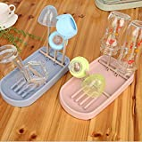 Culturemart 1PC Wheat Straw Foldable Baby Bottle Drying Rack Hanging Cups Holder Kitchen Drain Shelf for Baby Bottles OK