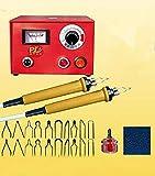 Eleoption 220 V 50 W Forme Wood Crafts Kit d'outil multifonction laser pyrogravure machine