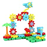 per Gear Building Block Set Interlocking Learning Toys Spinning Gears for Kids Toddlers (Amusement Park)