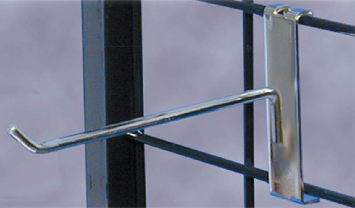 8'' Gridwall Peg Hook Merchandise Display Store Fixture Chrome Lot of 100 New
