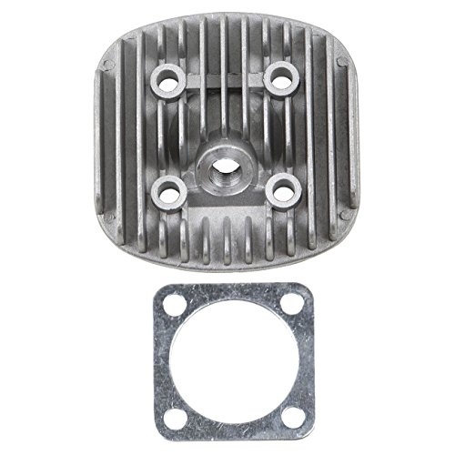 ZXTDR Cylinder Head Cover & Gasket for 66cc 80cc 2- Stroke Engine Motorized - Stroke Cylinder 2