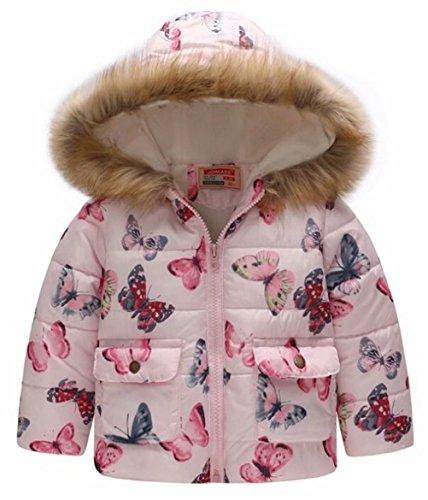 dce5429d3cf8 EGELEXY Kids Snowsuit Toddler Girl Winter Coat Fleece Lining Fur ...