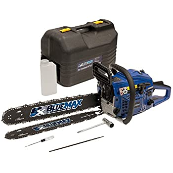 "Blue Max 14-Inch 2-Stroke Gas Powered Chain Saw with free 20"" Bar"