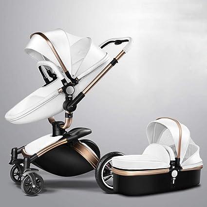 Olydmsky Carro Bebe,Recién Nacido Cochecito Alta Vista suspensión Puede reclinada del Cochecito de bebé