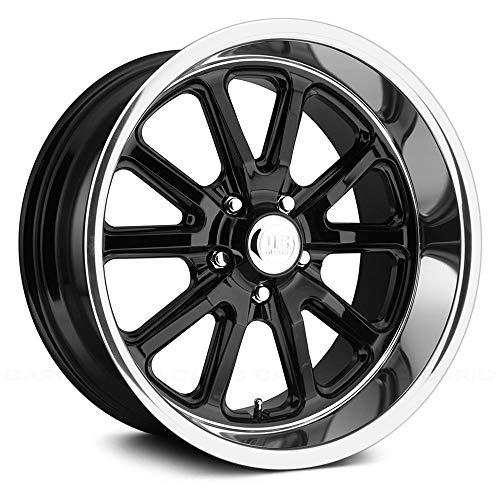 """U.S. Mags U121 Сustom Wheel - Rambler Series Gloss Black with Diamond Cut Lip 20"""" x 9.5"""", 1 Offset, 5x120.65 Bolt Pattern, 72.6mm Hub"""