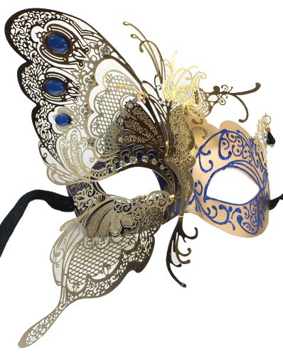 Dress Masqurade (RedSkyTrader Womens Dragon Metal Mask One Size Fits Most Gold)