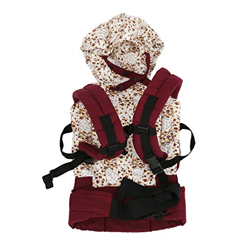 SODIAL(R) Cotton Baby Carrier Infant Comfort Backpack Buckle Sling Wrap Fashion Full Pad Adjustable Red by SODIAL(R)