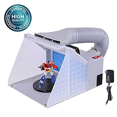 Koval Inc. LED Fan Filter Light Portable Airbrush Spray Booth Kit