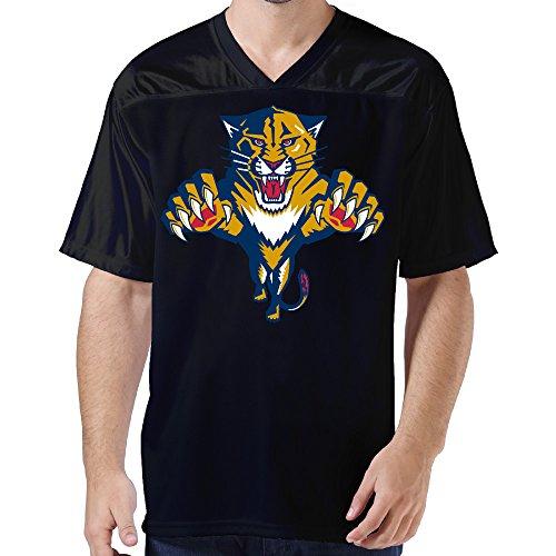 DonSir Roaring Panther Men Sports Team Uniform Football Jersey XL Black -