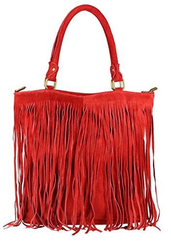 Girly Handbags - Bolso de hombro Mujer Red