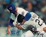 Nolan Ryan Autographed Texas Rangers 8x10 Photo Fight JSA