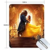 Beauty and The Beast Gaming Mouse Pad Non-Slip Rubber Mousepad 11.81 X 9.84 inches Rectangle Mouse Mat Smooth Surface Mouse Pads