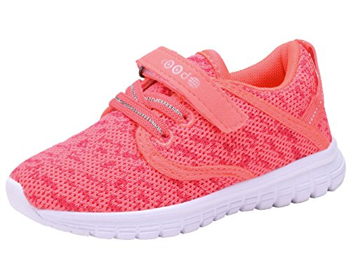Price comparison product image COODO CD3001 Toddler's Lightweight Sneakers Girls Casual Running Shoes New Coral-7