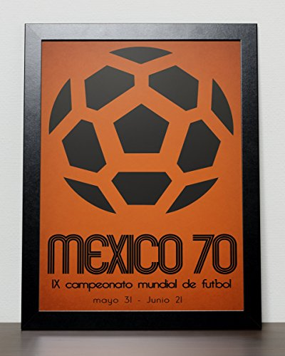 Mexico 1970 World Cup Poster (A3) - 29.7cm x (Mexico 1970 World Cup)