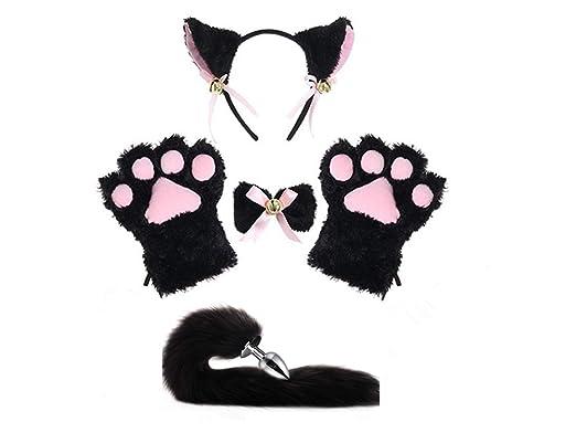 Amazon.com: Juego de guantes para cosplay con orejas de ...
