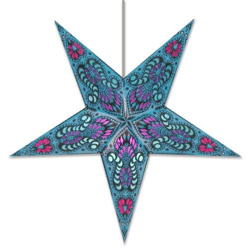 Star Lights - Peacock Blue Paper Star Lantern (Star Lanterns Paper)