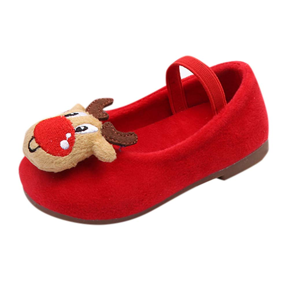 Girls Princess Shoes, Familizo Lovely Kids Baby Infant Toddler Girls Christmas Deer Shoes Xmas Princess Warm Sneakers Best Gifts for Autumn Winter