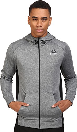 reebok-s99117-mens-workout-ready-poly-fleece-full-zip-hooded-jacket-dgreyh-m