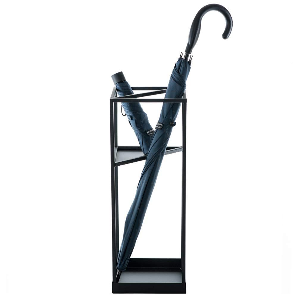 傘立て, 玄関の黒い金属の傘の立場の棚、総本店の装飾のための自由で永続的な日傘の収納ホルダー B07SX8M28Y