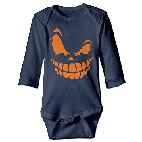 Smile Pumpkin Halloween Funny Newborn Baby Long Sleeve Babys' Crawling Suit Jumpsuit