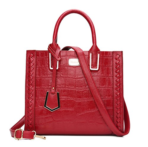 Mujer Nuevo La Bolsa De Asas Todo-fósforo Manera Manera Simple Elegante Bolso Red