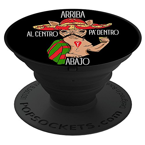 Centro Smartphone - MAD LABS TEES Ariba Abajo Al Centro Pa Dentro Chihuahua(ML) PopSockets Stand for Smartphones and Tablets